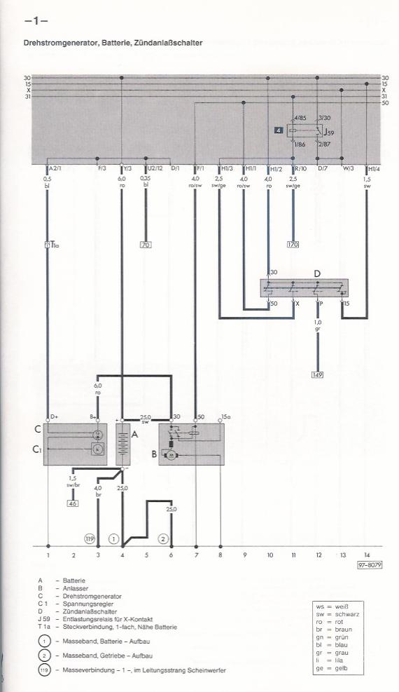 Schön Vw Spannungsregler Schaltplan Fotos - Elektrische ...
